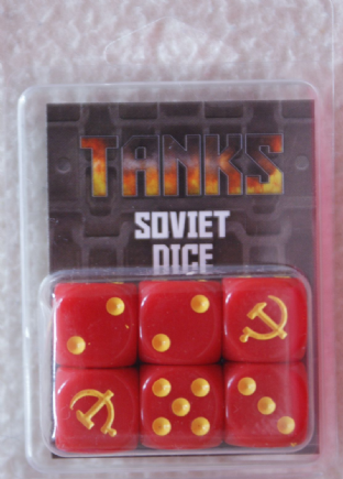 Gale Force Nine Games TANKS17 Soviet Dice